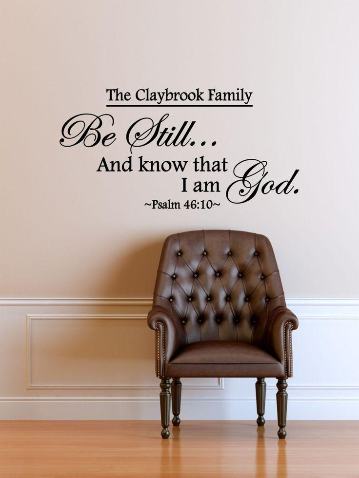 26 Best Religious | Christian Wall Vinyl Decalsthe Vinyl For Be Still And Know That I Am God Wall Art (Photo 15 of 20)
