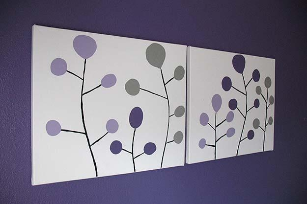26 Fabulously Purple Diy Room Decor Ideas – Diy Projects For Teens Inside Purple Wall Art For Bedroom (Image 1 of 20)