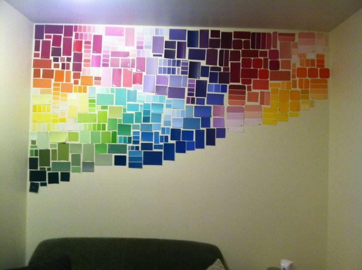 29 Best Paint Chip Art Images On Pinterest | Paint Chips, Paint Intended For Paint Swatch Wall Art (Image 4 of 20)