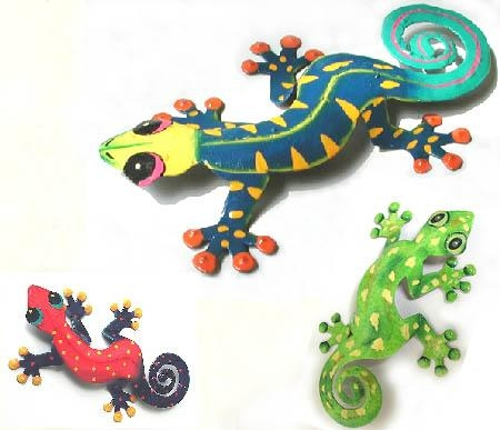 3 Piece Gecko Combo – Large, Medium & Small – Outdoor Garden Decor Pertaining To Gecko Outdoor Wall Art (View 14 of 20)