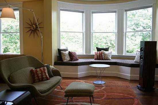 30 Bay Window Decorating Ideas Blending Functionality With Modern Intended For Sofas For Bay Window (View 5 of 20)