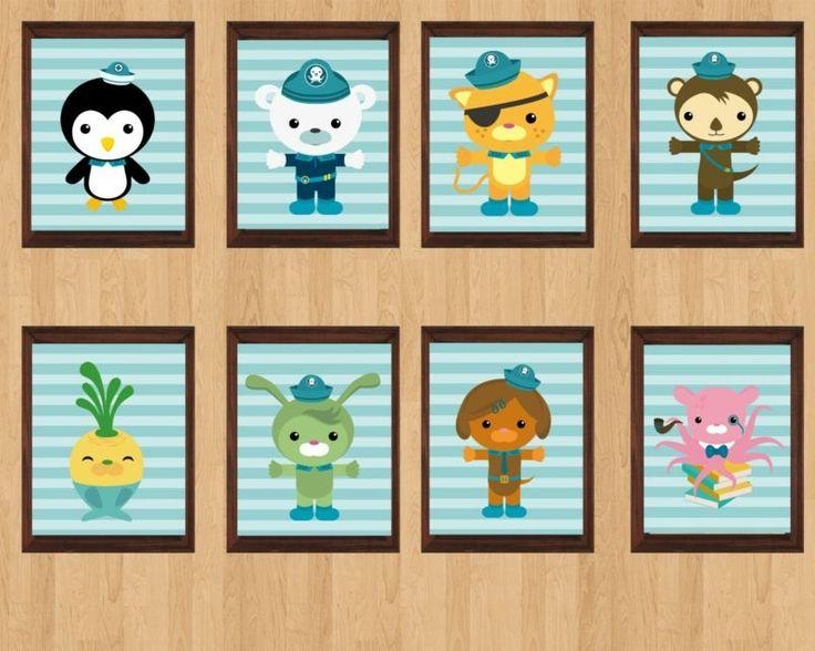 30 Best Mr M's Octonauts Bedroom Ideas Images On Pinterest In Octonauts Wall Art (Image 1 of 20)
