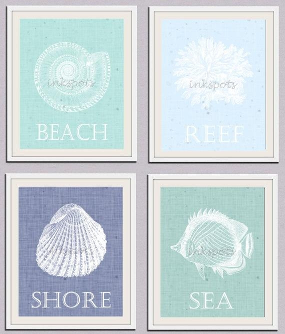 30 Best Ocean Inspired Wall Art Images On Pinterest | Nursery Art For Seashell Prints Wall Art (View 2 of 20)