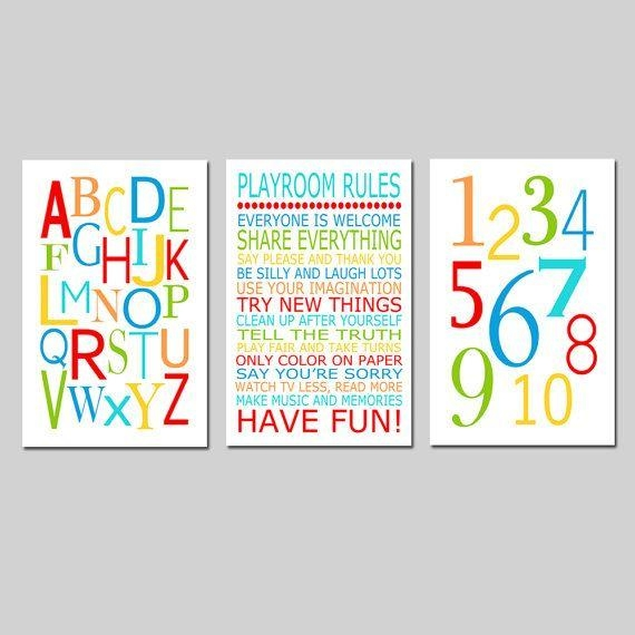 311 Best Kids Wall Art Images On Pinterest | Kid Wall Art, Canvas With Playroom Rules Wall Art (Photo 1 of 20)