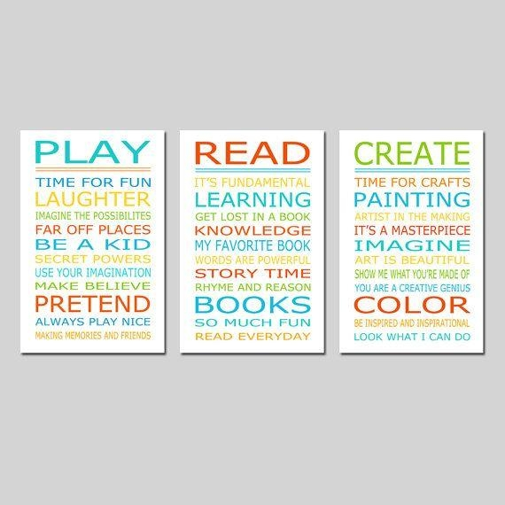 311 Best Kids Wall Art Images On Pinterest | Kid Wall Art, Canvas Within Playroom Rules Wall Art (View 20 of 20)