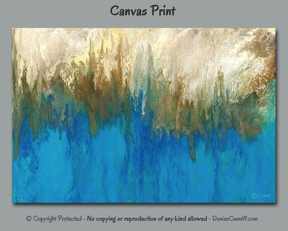 325 Best Art & Paintings – Abstract Art Images On Pinterest In Teal And Gold Wall Art (Image 1 of 20)
