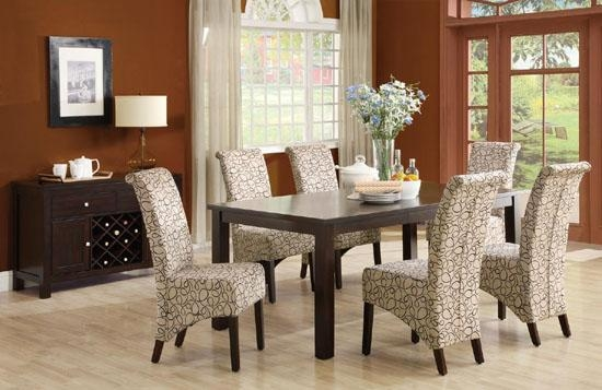 33 Upholstered Dining Room Chairs | Ultimate Home Ideas With Regard To Most Recent Fabric Dining Room Chairs (Image 1 of 20)