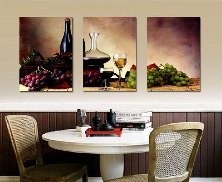 340 Best Grape Kitchen Ideas Images On Pinterest | Kitchen Ideas With Regard To Wine And Grape Wall Art (View 18 of 20)