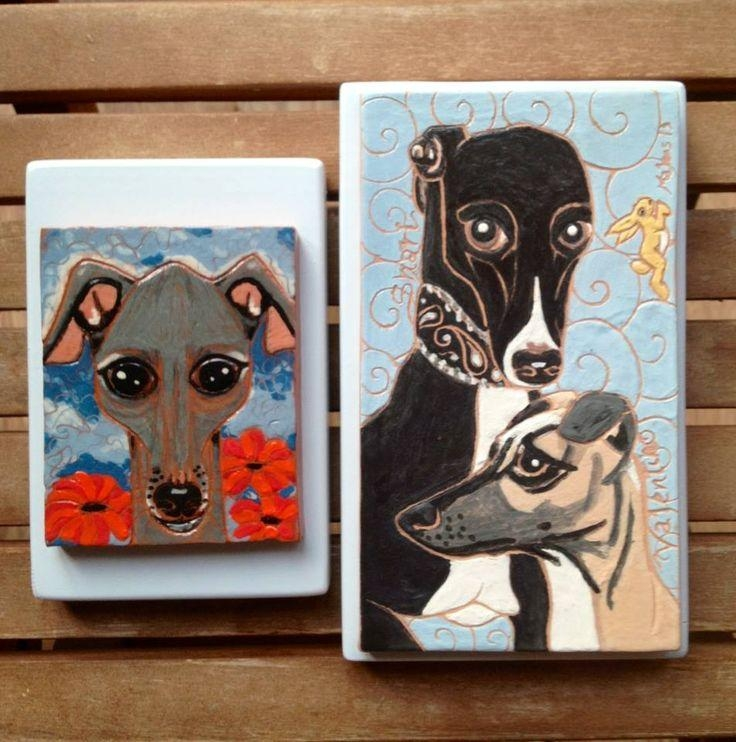 35 Best Italian Greyhound Ceramics. My Artwork. Images On In Italian Greyhound Wall Art (Photo 11 of 20)