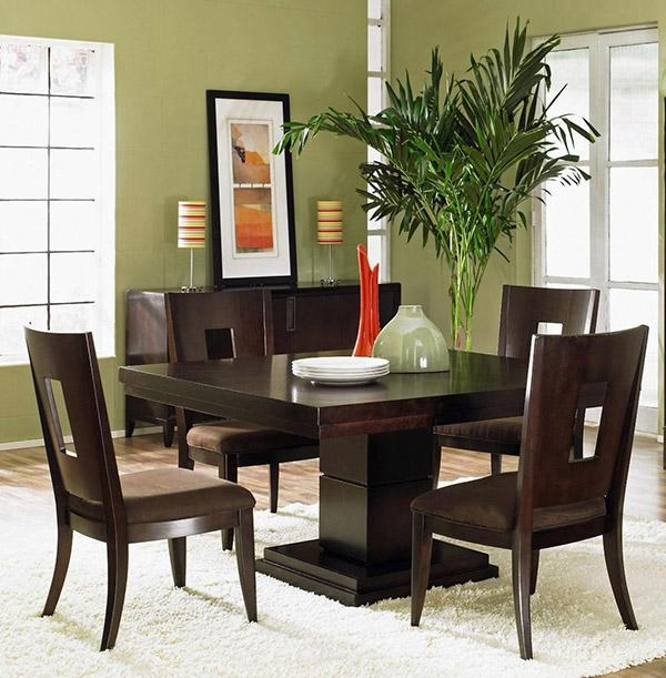 35 Gorgeous Wood Dining Table Designs To Charm Your Dining Area Throughout Best And Newest Dark Brown Wood Dining Tables (Image 1 of 20)