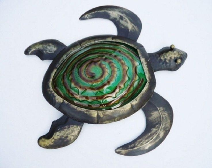 36 Best Coastal Metal Art Decor Images On Pinterest | Art Decor For Outdoor Metal Turtle Wall Art (Image 2 of 20)