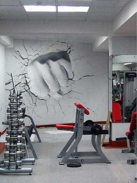 38 Best Home Gym Ideas Images On Pinterest | Garage Gym, Basement In Wall Art For Home Gym (Image 2 of 20)