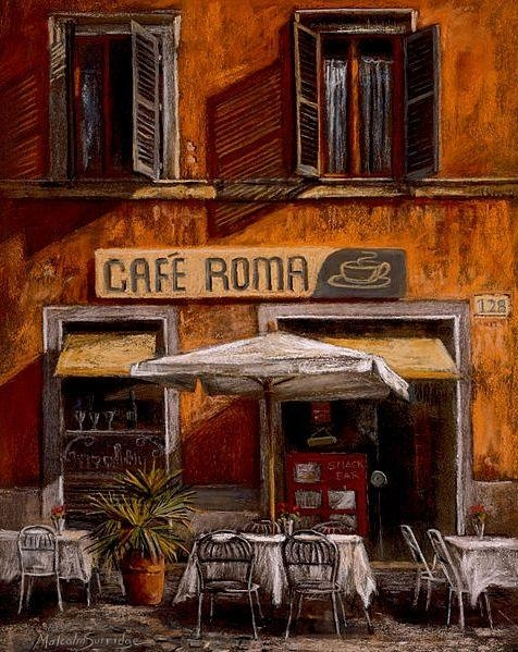 38 Best Skilderye Images On Pinterest | Painting, Art Print And Cafes Within Italian Cafe Wall Art (Image 4 of 20)