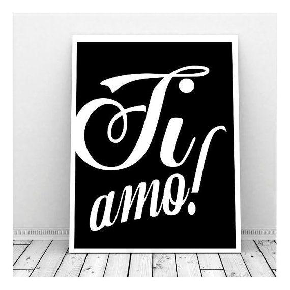 38 Best Ti Amo Images On Pinterest | I Love You, Italian Language In Italian Words Wall Art (Photo 13 of 20)