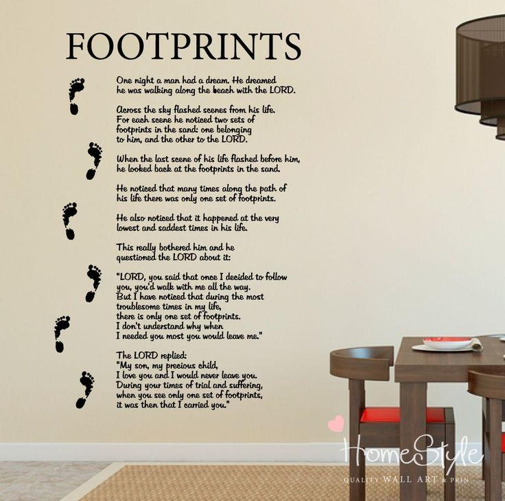 39 Best Home Decor Wall Stickers Images On Pinterest | Wall Regarding Footprints In The Sand Wall Art (Photo 3 of 20)