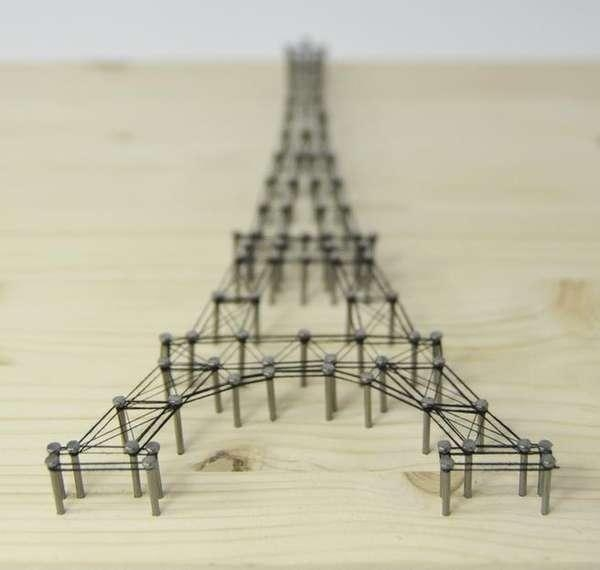 3D Architectural Wall Art : Eiffel Tower Picture With Eiffel Tower Wall Art (Image 1 of 20)