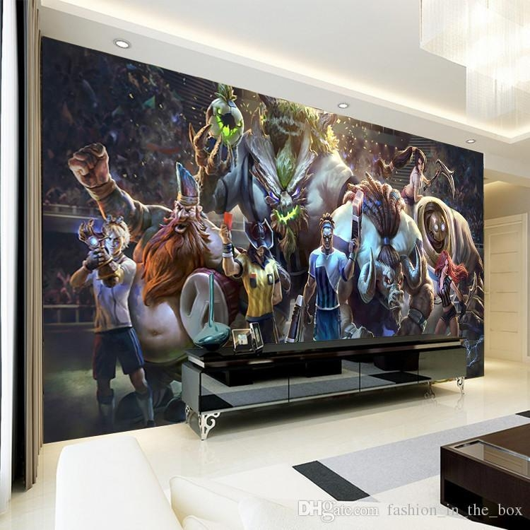 3D Game Wall Mural League Of Legends Photo Wallpaper Custom Art With Regard To Wall Art For Game Room (Image 3 of 20)