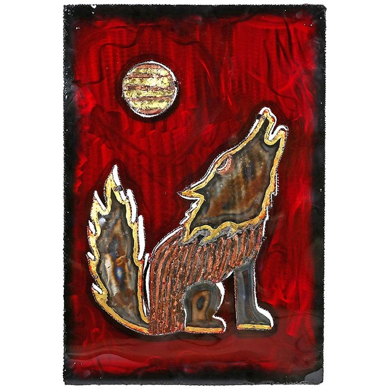 3D Metal Howling Coyote Wall Art Inside 3D Metal Wall Art (Image 1 of 20)