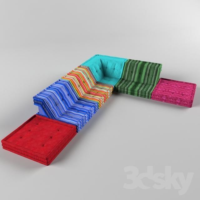 3D Models: Sofa – Sofa Roche Bobois Mah Jong Inside Roche Bobois Mah Jong Sofas (View 18 of 20)