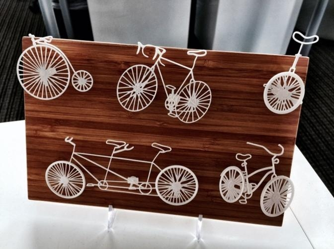 3D Printed Five Bikes: Wire Wall Artbrandon George | Pinshape With 3D Printed Wall Art (Image 4 of 20)