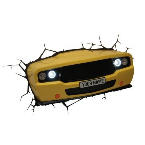 3D Wall Art Nightlight – Muscle Car Within 3D Wall Art Nightlight (Image 1 of 20)
