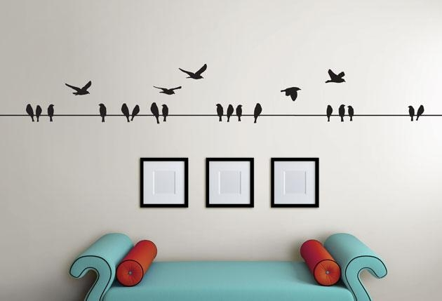 3M Birds On A Wire – Twiggy Within Birds On A Wire Wall Art (View 2 of 20)