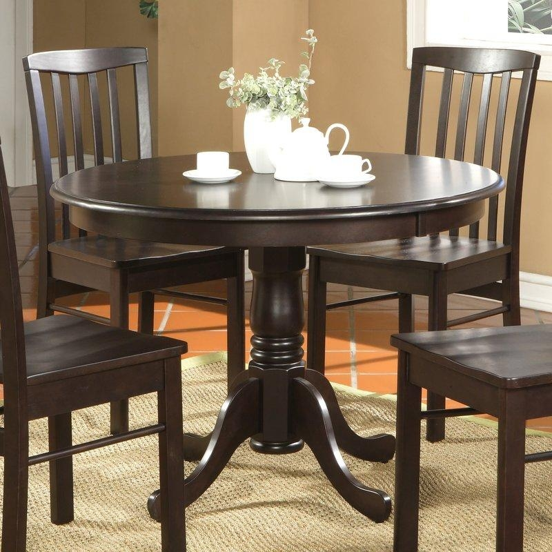 4 Seat Kitchen & Dining Tables You'll Love | Wayfair Inside Newest Round Dining Tables (Image 1 of 20)