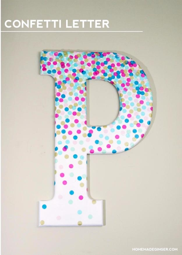 41 Amazing Diy Architectural Letters For Your Walls – Diy Projects Intended For Decorative Initials Wall Art (Image 2 of 20)