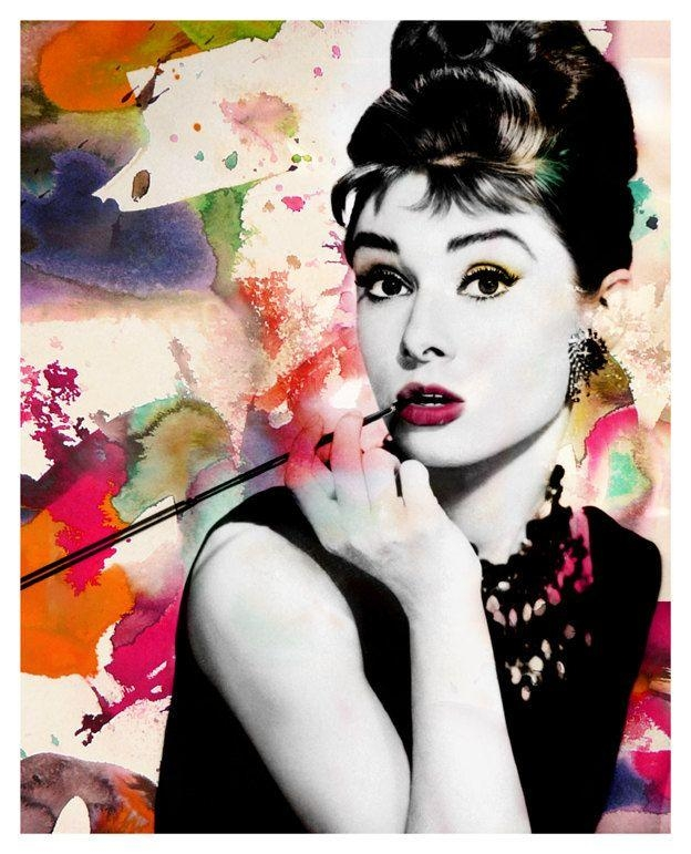 41 Best Audrey Hepburn Images On Pinterest | Beautiful People In Glamorous Audrey Hepburn Wall Art (Image 5 of 20)