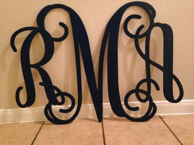 41 Best Monogram Wall Art Images On Pinterest | Monogram Wall Art With Monogrammed Wall Art (Image 3 of 20)