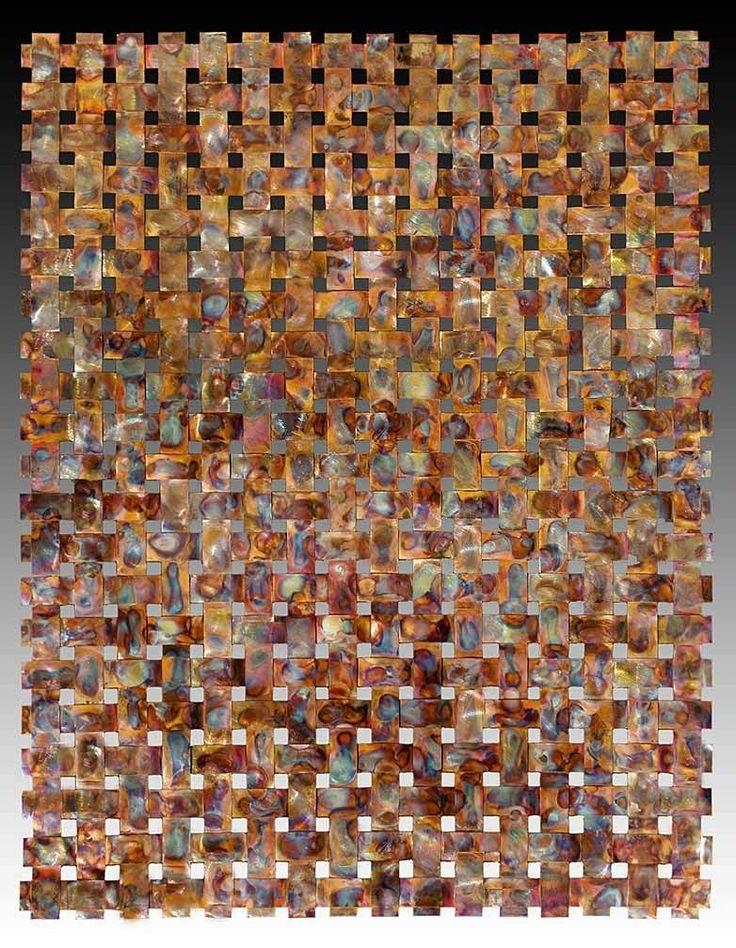 41 Best Woven Copper Images On Pinterest | Metal Walls, Metal Wall Within Woven Metal Wall Art (Image 5 of 20)