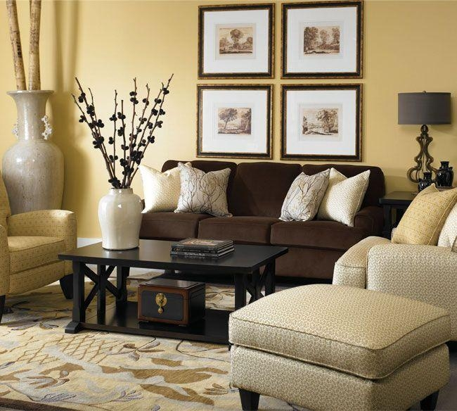 42 Best Decorating Ideas For Livingrooms With Dark Color Furniture With Brown Sofas Decorating (Image 5 of 20)