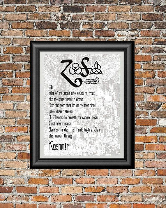 44 Best Printable Song Lyrics Images On Pinterest | Printable Within Led Zeppelin Wall Art (View 18 of 20)