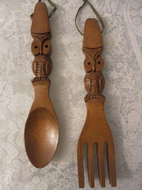 44 Best Vintage Wood Spoon & Fork Images On Pinterest | Wood Spoon For Wooden Fork And Spoon Wall Art (View 3 of 20)