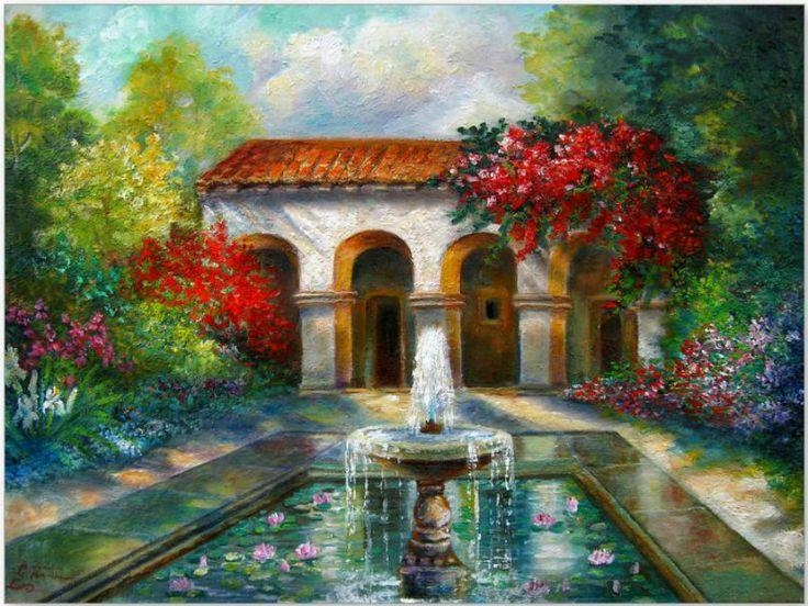 46 Best Gina Femrite Images On Pinterest | Paintings, Landscapes For Italian Scene Wall Art (View 15 of 20)
