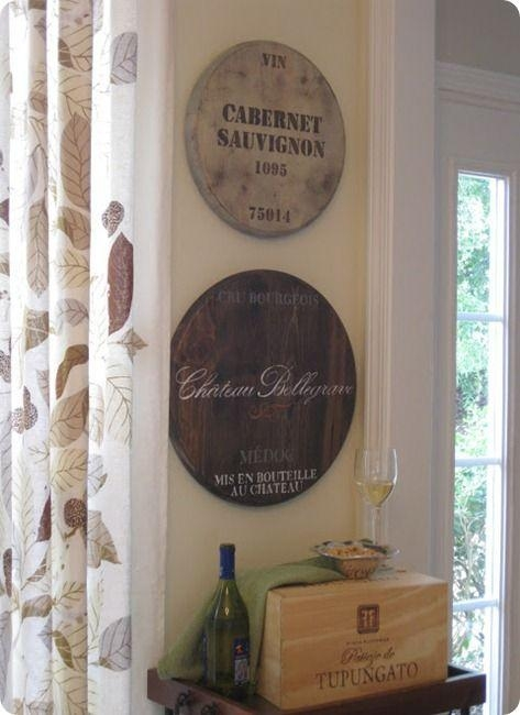 48 Best Wine Barrel Head Decor Images On Pinterest | Wine Barrels With Wine Barrel Wall Art (View 6 of 20)