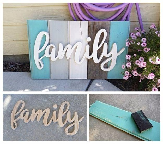 50 Cool And Crafty Diy Letter And Word Signs – Diy Joy In Wooden Word Art For Walls (Image 3 of 20)