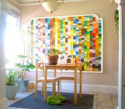 50 Fun Things To Do With Paint Chip Samples | Broke & Healthy In Paint Swatch Wall Art (Image 6 of 20)
