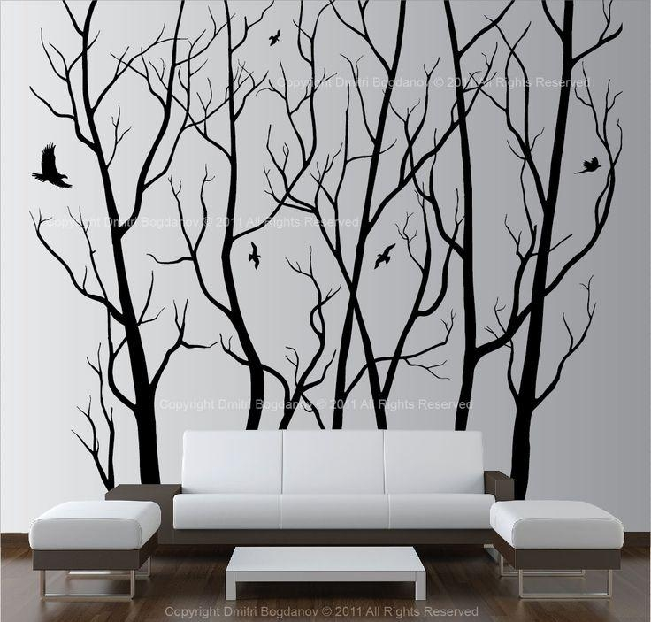 509 Best Tree Decal Images On Pinterest | Tree Wall Decals Intended For Wall Art Deco Decals (Image 1 of 20)