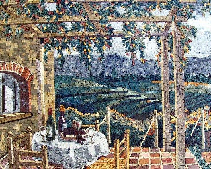 53 Best Craft – Marble & Stone Mosaic Images On Pinterest | Mosaic Regarding Italian Mosaic Wall Art (Image 5 of 20)