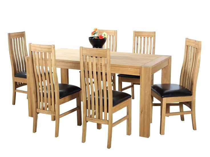 6 Chair Round Dining Table Set – Mitventures (Image 1 of 20)