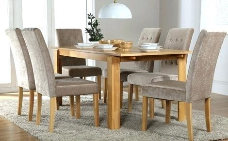 6 Chairs Dining Table Set – Mitventures (Image 2 of 20)