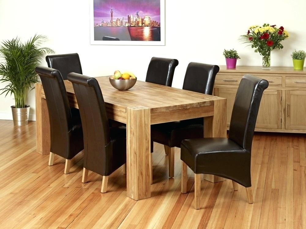 6 Chairs Round Dining Table Dining Table Light Oak Dining Table With Regard To Current Light Oak Dining Tables And 6 Chairs (Image 1 of 20)