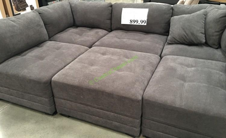 6 Piece Modular Fabric Sectional – Costcochaser Throughout Costco Sectional Sofas (Image 1 of 20)