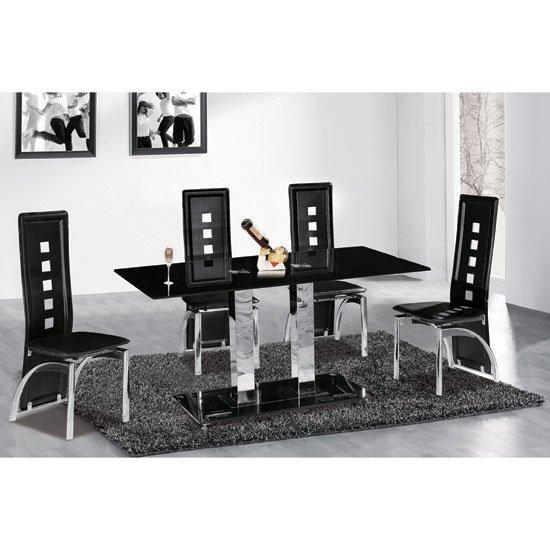 6 Reasons To Buy Dining Table And Chairs In Black Glass – Interior Inside Recent Black Glass Dining Tables With 6 Chairs (Image 1 of 20)