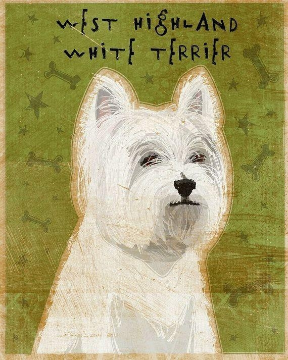 62 Best Westies Images On Pinterest | Westies, West Highland For Westie Wall Art (Image 8 of 20)