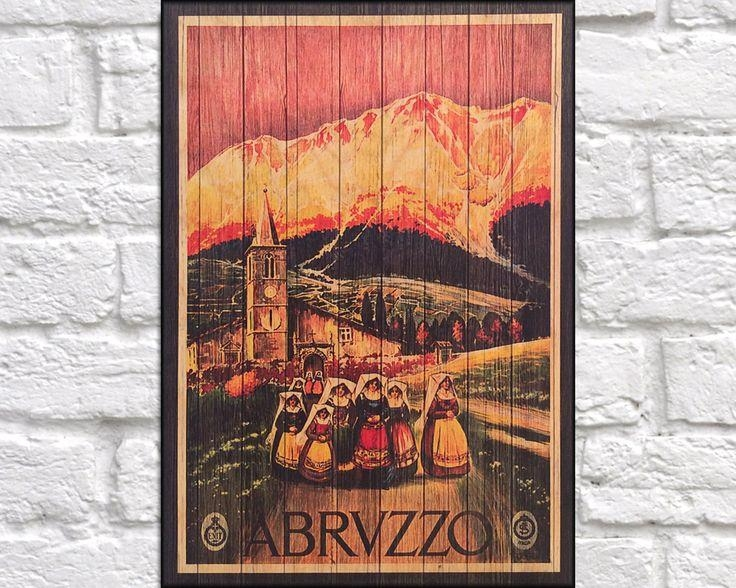 62 Best Wood Art Vintage Travel Posters Images On Pinterest Within Italian Wood Wall Art (Image 5 of 20)