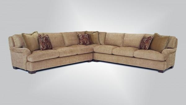 629 – Sectional With 585 Arm – Burton James Intended For Burton James Sectional Sofas (Image 13 of 20)