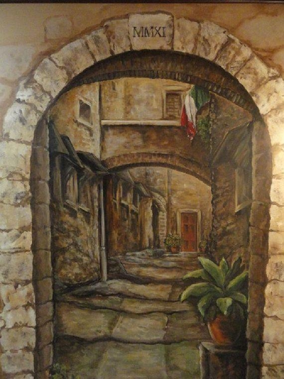 63 Best Italian Murals Images On Pinterest | Wall Murals, Mural Intended For Italian Art Wall Murals (Photo 11 of 20)