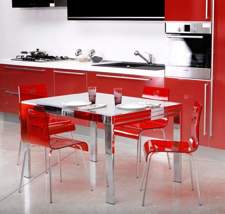 67 Best Dining Tables Images On Pinterest | Glass Tables, Glass In Most Up To Date Red Gloss Dining Tables (Image 2 of 20)